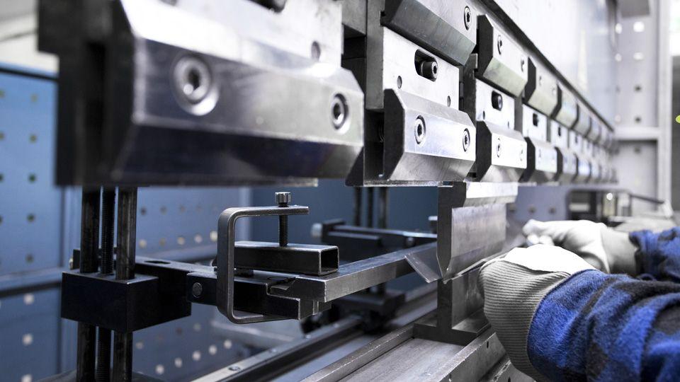 sheet metal bending on press brake with pressure of 120 t   Astromet
